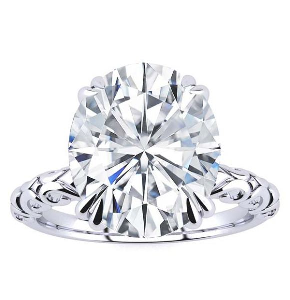 Judith Moissanite Ring