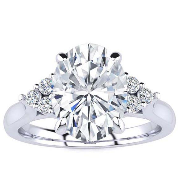 Simone Moissanite Ring