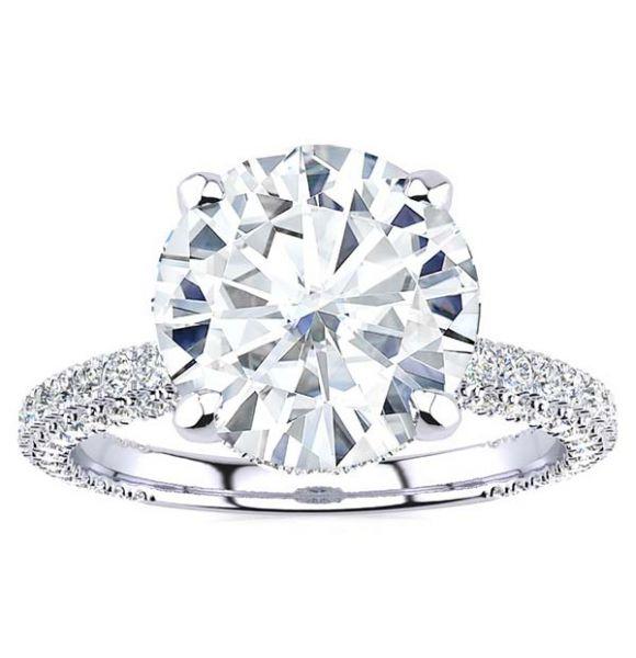 Nelly Moissanite Ring
