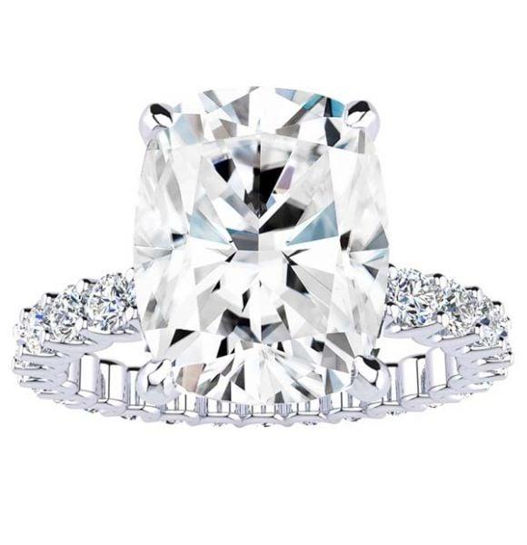 Baz Moissanite Ring
