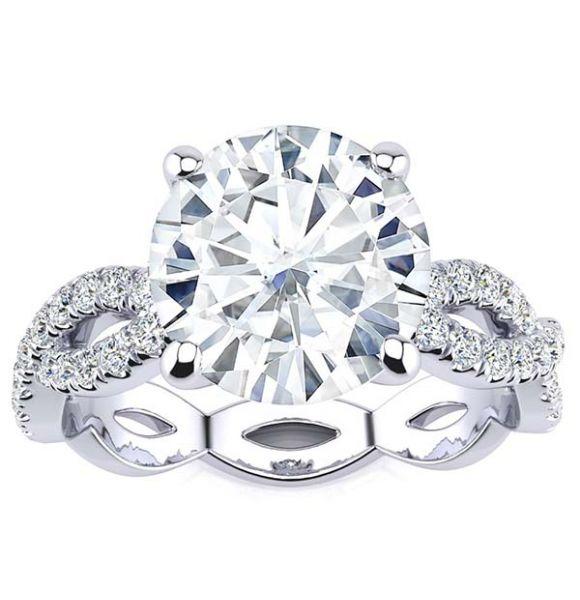 Amara Moissanite Ring