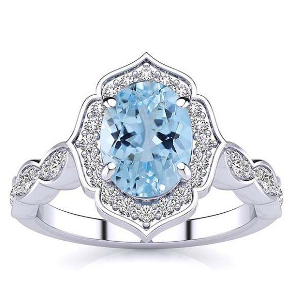 Millie Aquamarine Ring