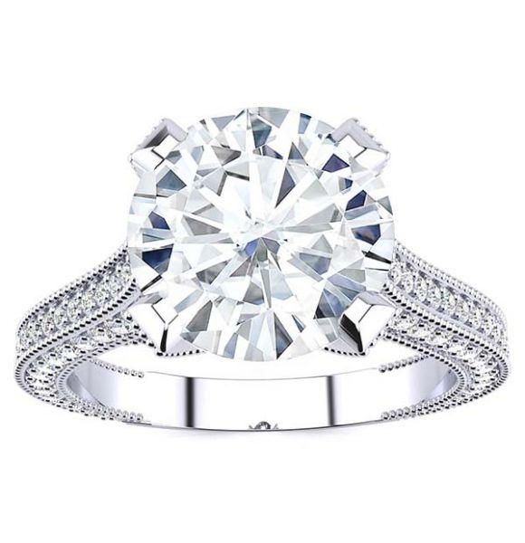 Donatella Moissanite Ring