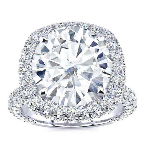 Melanie Moissanite Ring