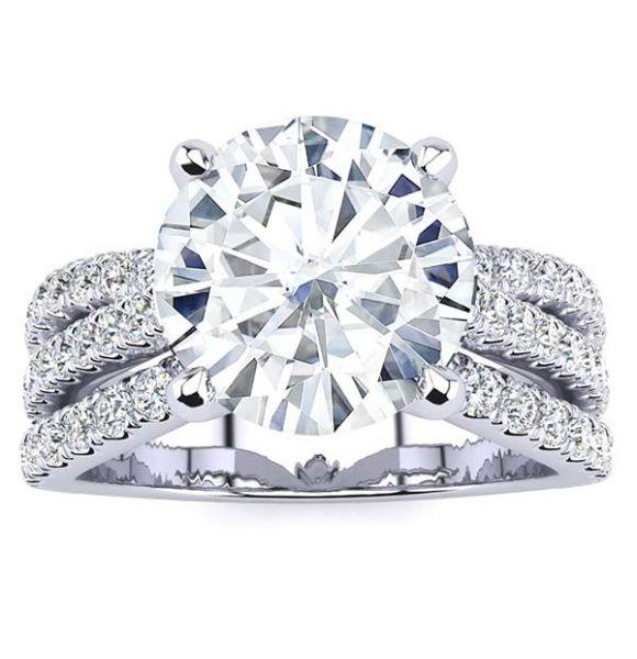 Tressa  Moissanite Ring