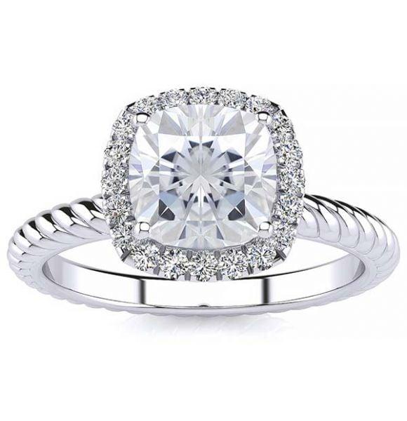 Alyssa Moissanite Ring