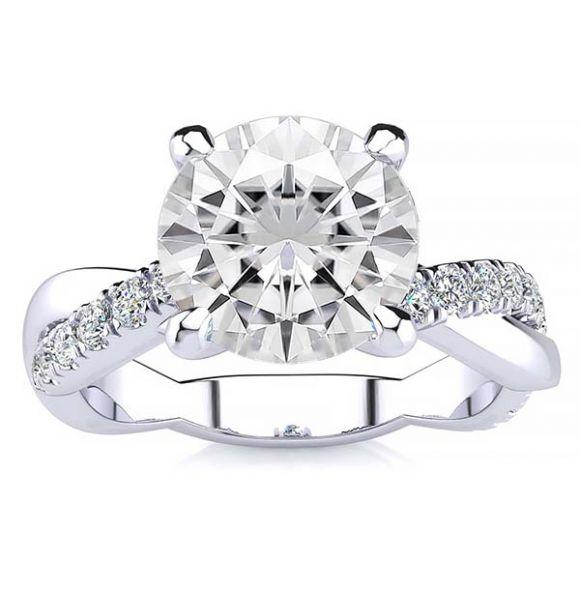 June Moissanite Ring