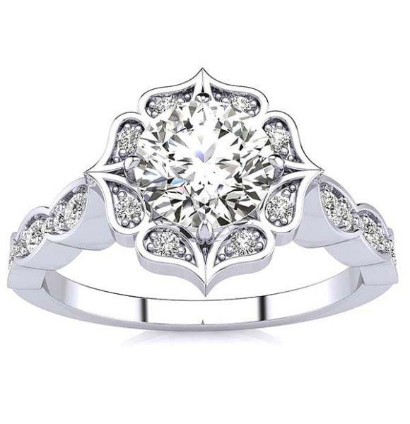 Vera Moissanite Ring