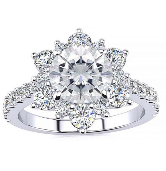 Snowflake Lab Grown Diamond Ring