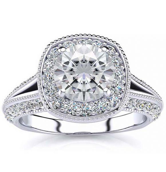 Angela Moissanite Ring