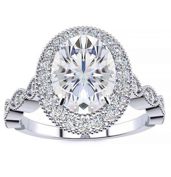 Amalia Moissanite Ring