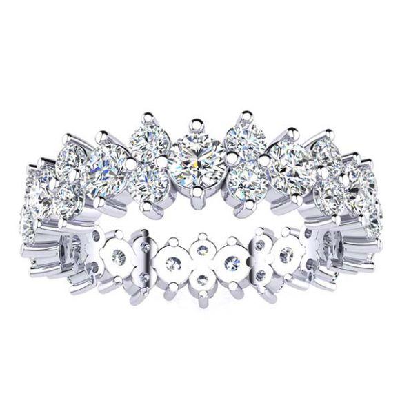 Kristal Moissanite Eternity Ring
