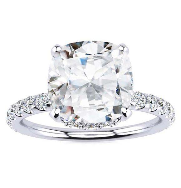 Christine Moissanite Ring