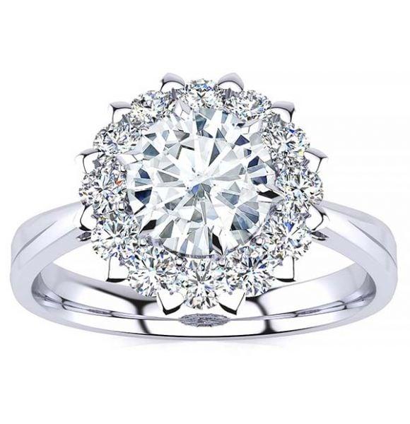Jamie Moissanite Ring