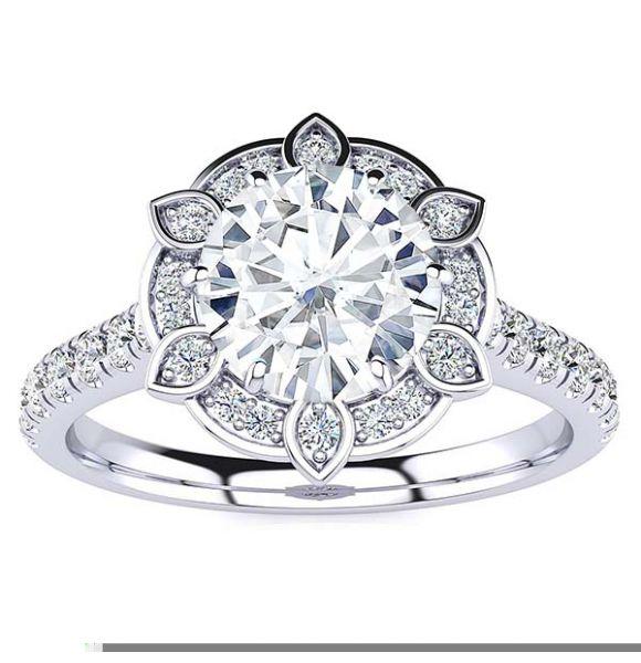 Jackie Moissanite Ring