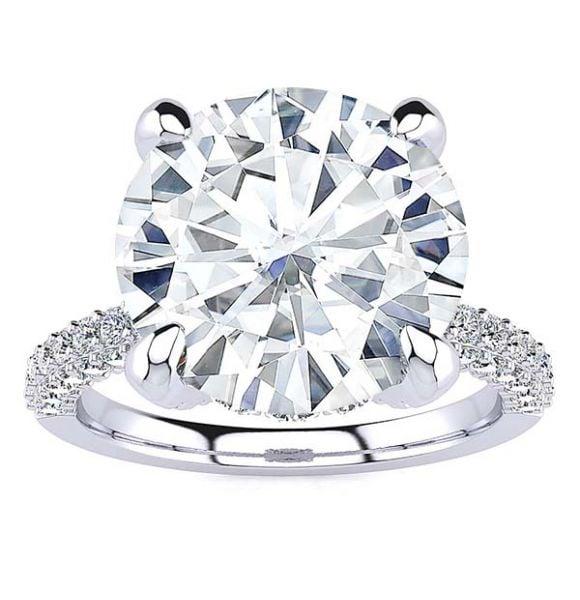 Sabina Moissanite Ring