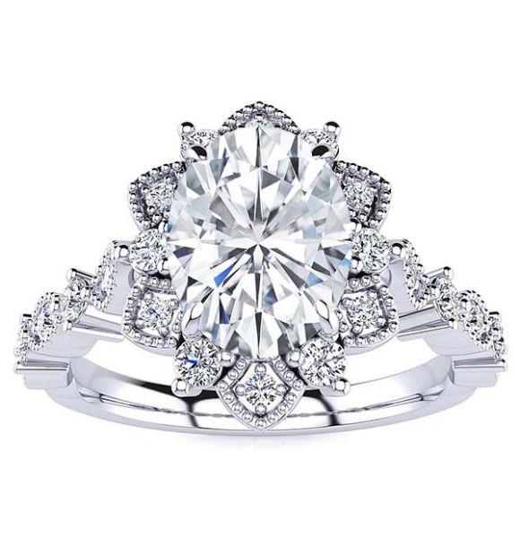 Brenda Moissanite Ring