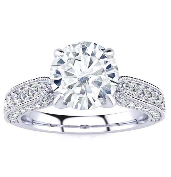 Heather Moissanite Ring