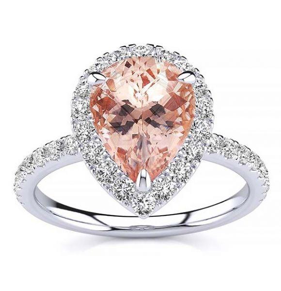 Anastasia Morganite Ring