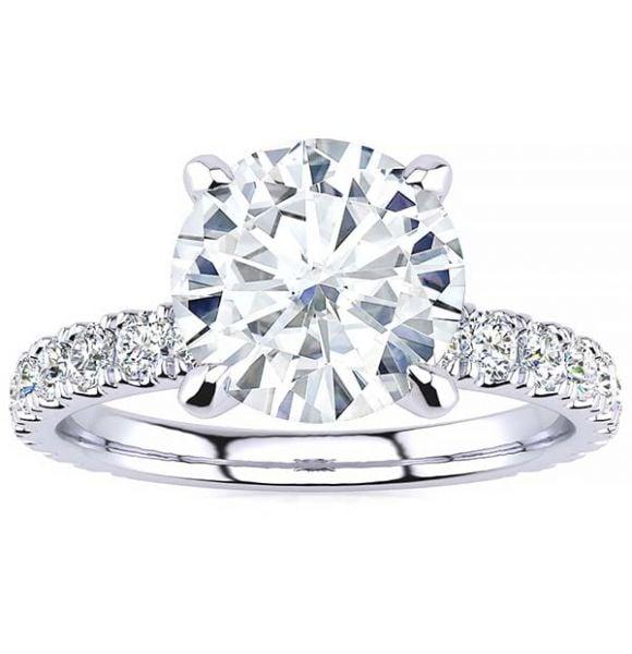 Breanna Moissanite Ring