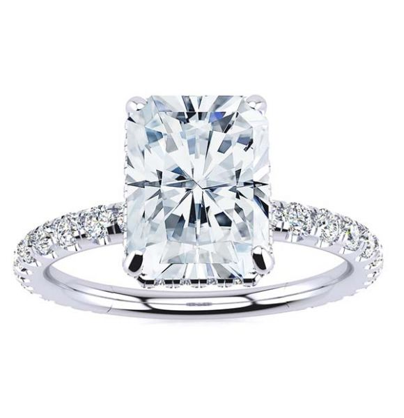Crystal Moissanite Ring