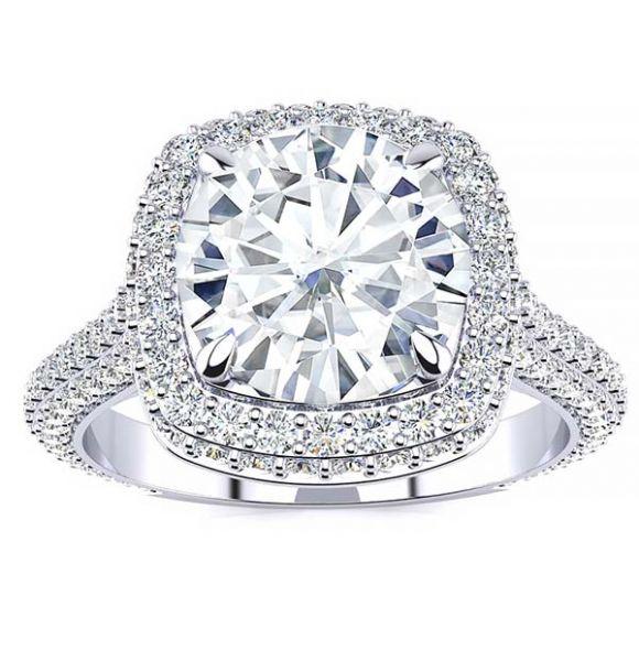 Emily Moissanite Ring