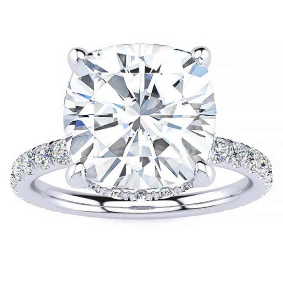 Iris Moissanite Ring