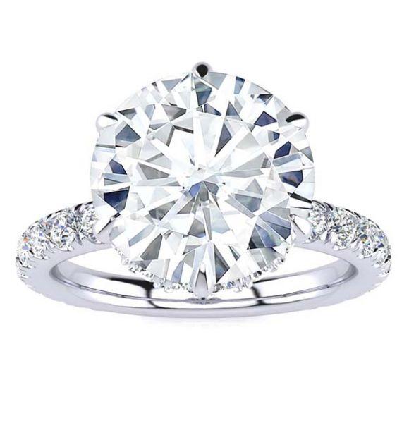 Krystal 3.00ct Moissanite Ring