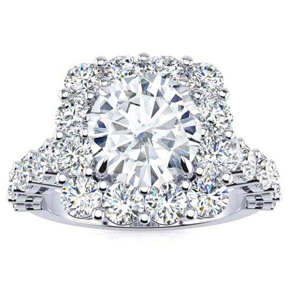 Daisy Moissanite Ring