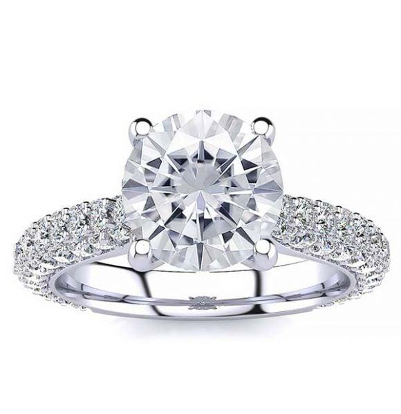 Rosemary Moissanite Ring