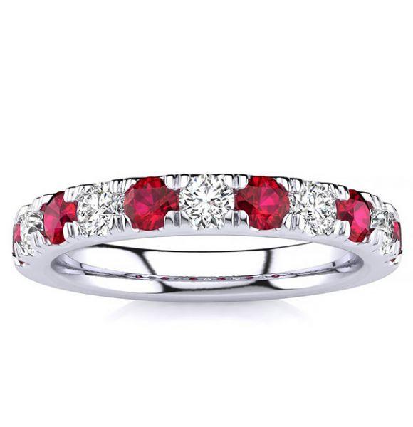 3.2mm Ruby Diamond Ring