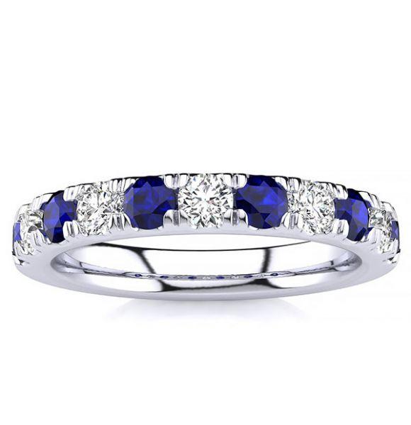3.2mm Sapphire Diamond Ring