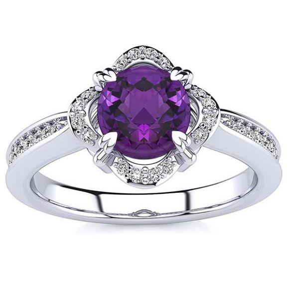 Luna Amethyst Ring