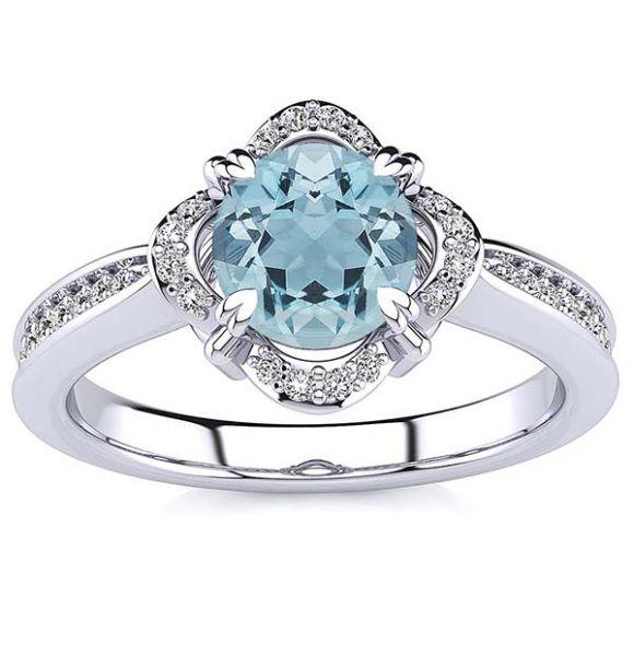 Luna Aquamarine Ring