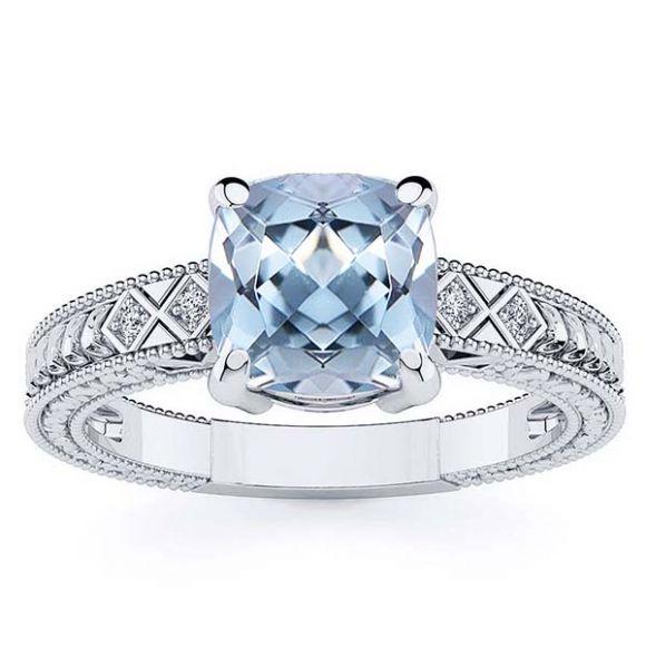 Adeline Aquamarine Ring