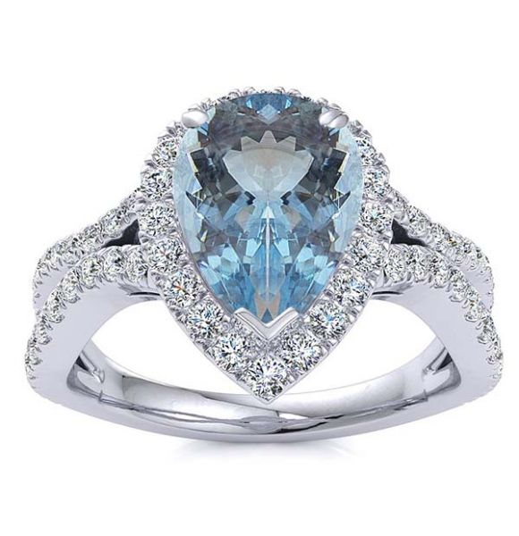Jasmine Aquamarine Ring