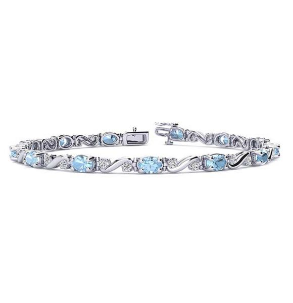 Twist Aquamarine Bracelet