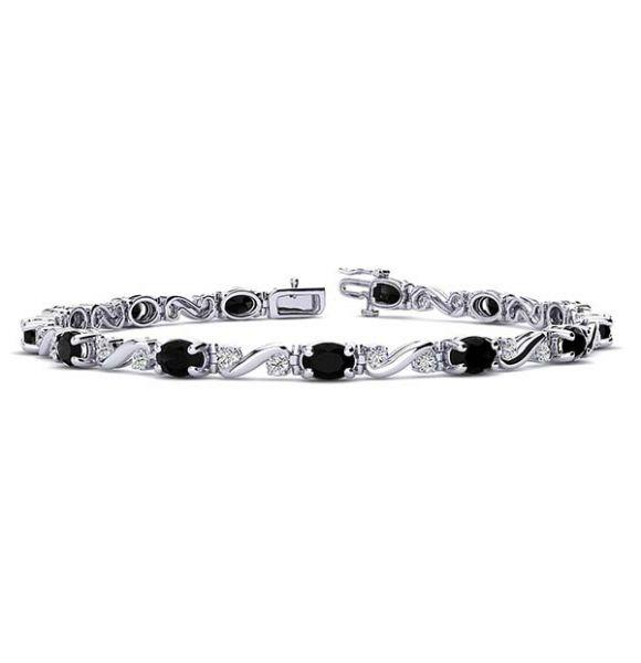 Twist Black Diamond Bracelet