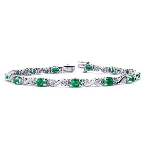 Twist Emerald Bracelet
