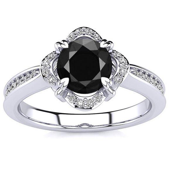 Luna Black Diamond Ring
