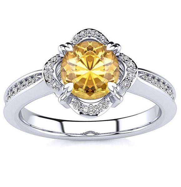 Luna Yellow Citrine Ring