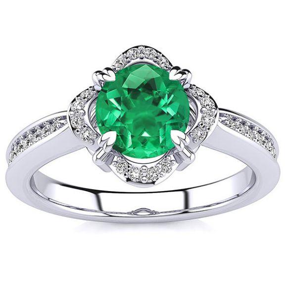 Luna Emerald Ring