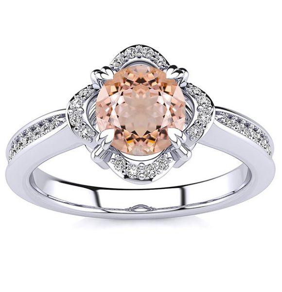 Luna Morganite Ring