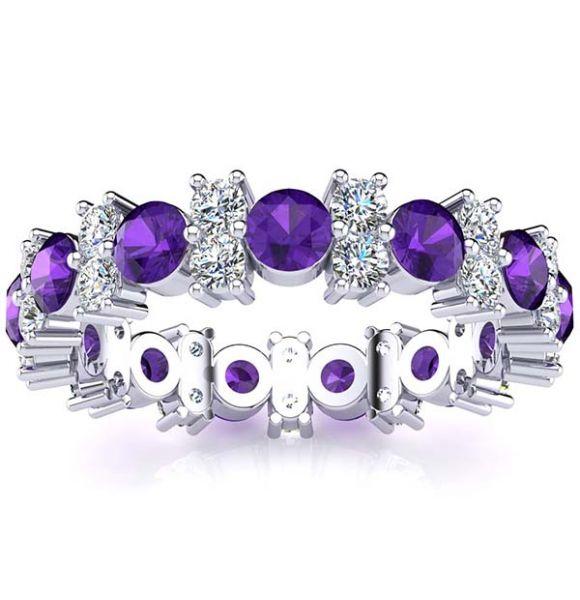 Garland Amethyst And Diamond Ring