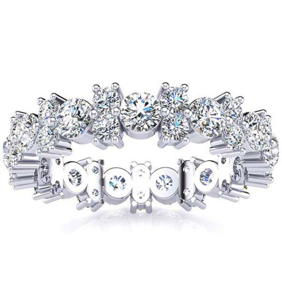 Garland Moissanite and Diamond Ring