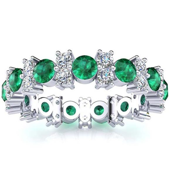 Garland Emerald And Diamond Ring