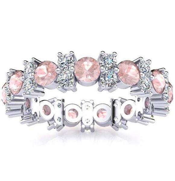 Garland Morganite And Diamond Ring