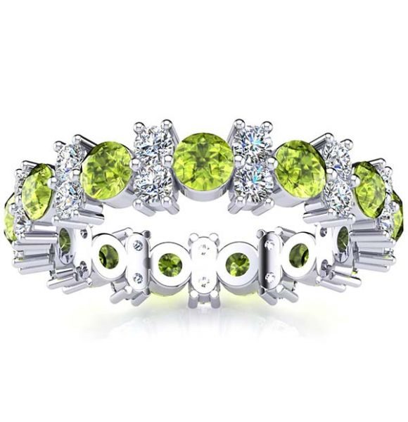 Garland Peridot And Diamond Ring
