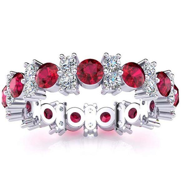 Garland Ruby And Diamond Ring