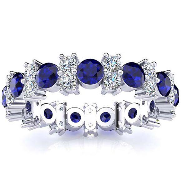 Garland Sapphire And Diamond Ring